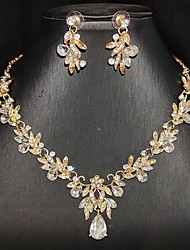 cheap -Women's Bridal Jewelry Sets Earrings Jewelry Silver / Gold For Wedding Party Evening Festival