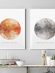 cheap -Wall Art Canvas Prints Painting Artwork Picture Planet Sun Moon Home Decoration Decor Rolled Canvas No Frame Unframed Unstretched
