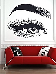 cheap -eyelashes and eyebrows wall decal lashes and brows window sticker lashes extensions wall decal eyes beauty salon wall art l035