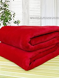 cheap -Pure Color High Quality Flannel Blanket Gift Blanket Plain Fleece Blanket Summer Lunch Break Air Conditioning Blanket