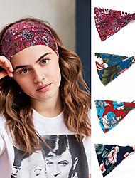 cheap -4 Pcs/set Printed Sports Headband Yoga Hair Band Elastic Hair Band Anti Sweat Women's Wide Brimmed Scarf Headdress