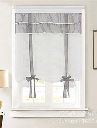 cheap -Window Curtain Window Treatments 1 Panel White Grey for Kitchen Living Room Bedroom Patio Sliding Door