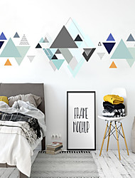 cheap -Fanxi Spray Painting Wall Paste Geometric Triangle Creative Simple Home Decoration Wall Painting Can Be Removed 60*150cm