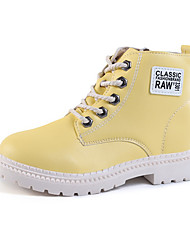cheap -Girls' Boots Bootie Casual / Daily Martin Boots Big Kids(7years +) Walking Creamy-white Yellow Black