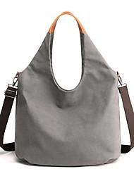 cheap -Women's Bags Canvas Top Handle Bag Zipper Daily Outdoor 2021 Tote Handbags Gray Khaki White Black