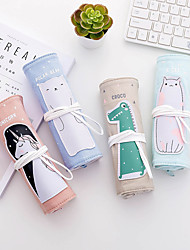 cheap -Pencil  pen  Case box back to school gift Cute animals Simple Stationery Bag Holder zippe 26*19 cm
