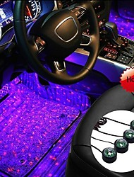 cheap -1set usb led Car Interior Light Car Roof Star Night Lights RGB LED Car Ambient Light Four In One USB Voice Control Projector Light Interior Ambient