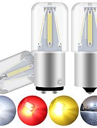 cheap -2PCS 1156 BA15S bulb 1157 BAY15D P21/5W LED Car Turn Signal Lights COB 4smd Auto Brake Light Reverse Lamp White Red 12V