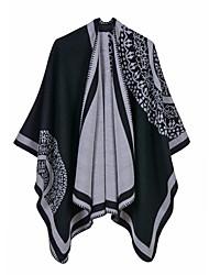 cheap -New Classic British Style Imitation Cashmere Split Shawl Big-name Female Sun Flower Dual-use Shawl Cloak Aliexpress 130x150CM