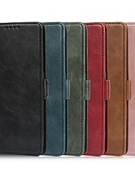 cheap -Phone Case For OPPO Full Body Case Find X2 Pro Card Holder Shockproof Dustproof Solid Colored PU Leather