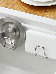 cheap -304 Stainless Steel Sponge Drain Rack Kitchen Sink Sink Wall Hanging Free Perforated Steel Wire Ball Rag Storage Rack
