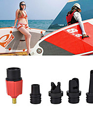 cheap -Techting Sup Air Pump Adapter Inflatable Paddle Rubber Boat Kayak Air Valve Adaptor Tire Compressor Converter 4 Nozzle