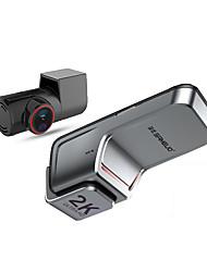 cheap -Sameuo u700 trao cam frente e traseira cmera gravador qhd 1944p dvr carro com 2 cam dashcam wifi gravador de vdeo 24h estacionamento monitor