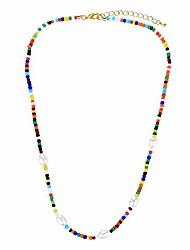 cheap -women shell pearl miyuki seed beads choker necklaces handmade friendship rainbow color strand necklace fashion jewelry gift