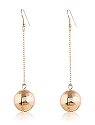 cheap -disco ball dangle drop earrings 60's or 70's gold silver mirror ball earrings for women girls accessories (gold)