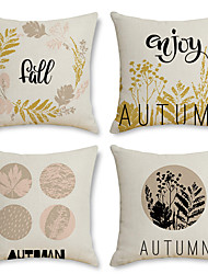 cheap -Fall Harvest Double Side Cushion Cover 4PC Soft Decorative Throw Pillow Cover  Pillowcase for Bedroom Livingroom Superior Quality Machine Washable Indoor Cushion for Sofa Couch Bed Chair Pumpkin