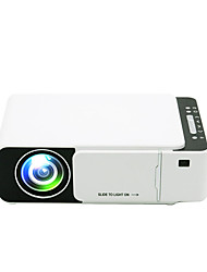 cheap -T5 LCD Projector WIFI Projector Keystone Correction Manual Focus WiFi Bluetooth Projector WVGA (800x480) 3000 lm Compatible with iOS and Android TV Stick HDMI USB