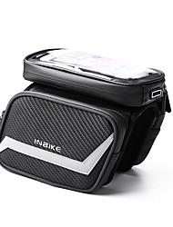 cheap -INBIKE Bike Frame Bag Top Tube Touch Screen Rain Waterproof Durable Bike Bag Polyester Bicycle Bag Cycle Bag Similar Size Phones Null