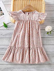cheap -[90-130cm]sweet flower print pink dress