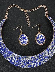 cheap -collar fashion exaggerated metal false collar necklace earrings set
