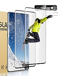 """cheap -2+2 pack s10 screen protector,camera lens protector, for samsung galaxy s10, 9h advanced anti-drop tempered glass, 3d touch accuracy, support fingerprint,no air bubbles (6.1"""")"""