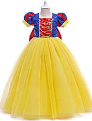 cheap -Princess Fairytale Elsa Dress Cosplay Costume Party Costume Girls' Movie Cosplay Halloween New Year's Blue Dress Christmas Halloween Children's Day Polyester