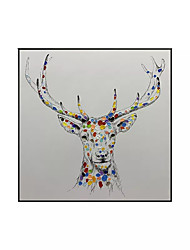 cheap -Oil Painting Handmade Hand Painted Wall Art Square Modern Abstract Animal Home Decoration Decor Rolled Canvas No Frame Unstretched