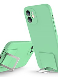 cheap -Phone Case For Apple Back Cover iPhone 12 Pro Max 11 SE 2020 X XR XS Max 8 7 Shockproof Dustproof with Stand Solid Colored Silicone