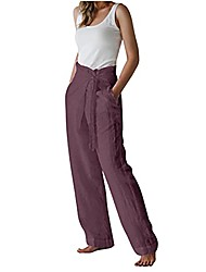 cheap -women's all around elastic waist polyester petite pants poly proportioned medium solid/tie-dye casual comfy wide leg palazzo lounge pants gaucho casual pants for women cropped rrousers
