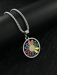 cheap -Men's Necklace Friends Romantic Vintage European Trendy Alloy Gray Silver 70 cm Necklace Jewelry 1pc For Street Festival