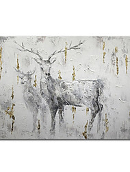 cheap -Oil Painting Handmade Hand Painted Wall Art Mintura Modern Abstract Animal For Home Decoration Decor Rolled Canvas No Frame Unstretched