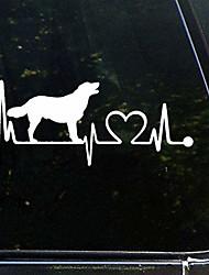 cheap -golden lab retriever heartbeat dogauto sticker,vinyl car decal,decor for window,bumper,laptop,walls,computer,tumbler,mug,cup,phone,truck,car accessories luttezurfzsx
