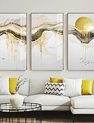 cheap -Wall Art Canvas Poster Painting Artwork Picture Abstract Gold Mount Sun Home Decoration Decor Rolled Canvas No Frame Unframed Unstretched