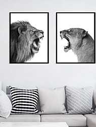 cheap -Wall Art Canvas Prints Painting Artwork Picture Animal Lion Home Decoration Decor Rolled Canvas No Frame Unframed Unstretched