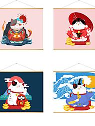 preiswerte -stoff hängende gemälde poster japanische ukiyo-e glückliche katze hängendes bild nach hause izakaya hotel dekoration