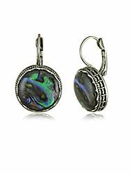 cheap -925 sterling silver abalone shell earrings for women dangle drop earring (rectangle/teardrop/oval/round)