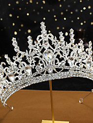 cheap -G155 Alloy Crown Headdress Large Bridal Wedding Accessories Queen Princess Birthday Large Crown
