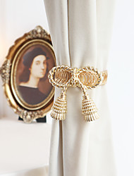 cheap -1PC Tiebacks Curtain Accessories Window Treatments Golden Vintage Style Metal Spring Strap