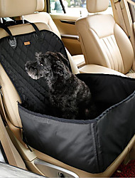 cheap -Dog Car Seat Cover Foldable Solid Colored Oxford Cloth Small Dog Driving Black