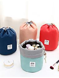 cheap -Bundle Mouth Fabric Anti Extrusion Cosmetic Bag Bucket Bag Foldable Travel Goods Storage Bag Drawstring Cylinder Wash Bag 23*17*17cm