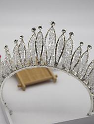 cheap -Luxury Rhinestone Bridal Headdress Wedding Dress Accessories Bridal Crown Handmade Baroque Crown Hair Accessories
