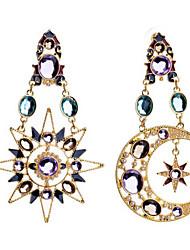 cheap -Women's Earrings Fashion Moon Star Classic Earrings Jewelry Gold For Street 1 Pair
