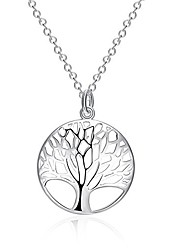 cheap -jovenmoda european and american silver plated copper fashion hollow life of tree shaped lady necklace