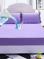 cheap -Bed Sheet Single-piece Mattress Protection Cover Solid Color Waterproof Bedspread Mattress Cover Mattress Cover Foreign Trade Bed Cover