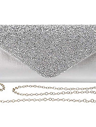 cheap -Women's Bags Polyester Evening Bag Sequin Chain Solid Color Party Wedding Evening Bag Chain Bag Silver Gold