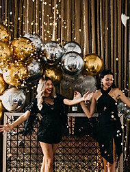 cheap -Aluminum Foil Balloons Festival Decorations Wedding Party Layouts Mirror-faced Round Rose Gold