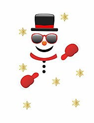 cheap -christmas decorative sticker cartoon snowman sticker for door christmas garage wall stickers funny sticker in children's room christmas refrigerator stickers