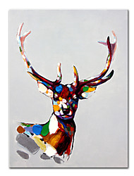 cheap -Oil Painting Handmade Hand Painted Wall Art Mintura Modern Abstract Animal Pictures Home Decoration Decor Rolled Canvas No Frame Unstretched
