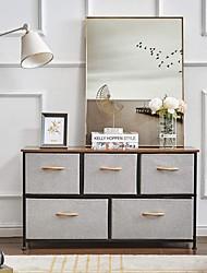 cheap -Dresser Storage Organizer 5 Drawer Dresser Tower Unit for Bedroom Hallway Entryway Closets Small Dresser Clothes Storage with Wide Sturdy Steel Frame Wood Top