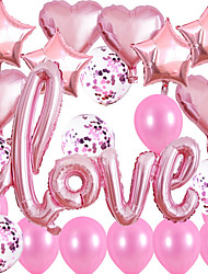 cheap -1 Set Love Aluminum Film Balloon Wedding Room Decoration And Arrangement Valentine's Day Background Wall Romantic Proposal Package